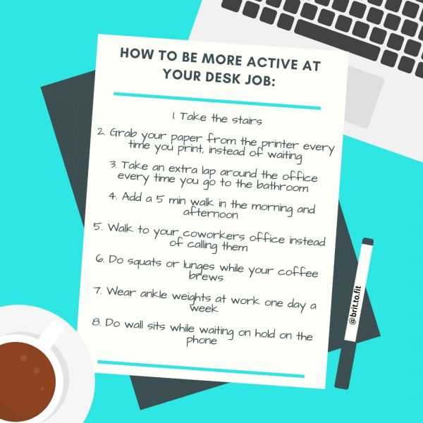 be active at your desk job